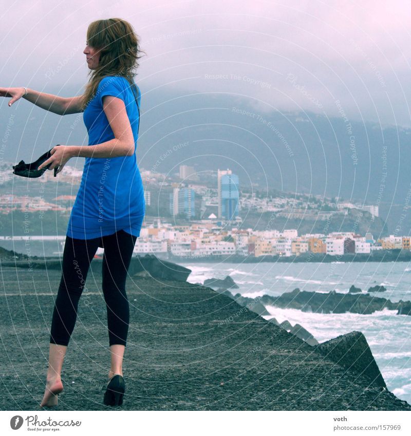 lost shoes Summer Woman Footwear Doomed Blue Beach Dusk Ocean Vacation & Travel Barefoot Promenade Gale Model