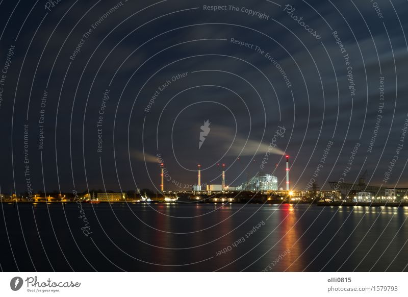 Amager Power Plant and Harbour in Copenhagen, Denmark Industry Town Chimney Energy Environmental pollution water Renewable power fume Emission smokestack Funnel