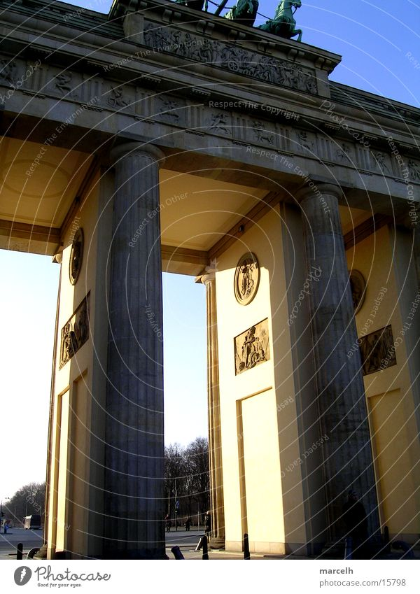 Brandenburg Gate Light Europe Berlin Shadow Capital city