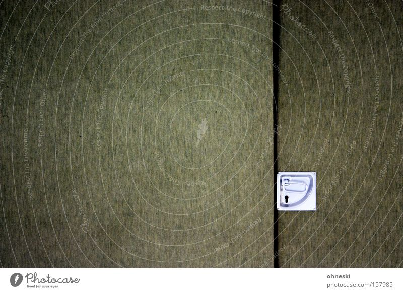 Green Door Arrangement Detail Hall Door handle Graphic Gymnasium Olive