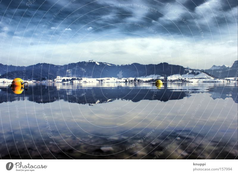Water Sky Blue Winter Clouds Cold Snow Mountain Lake Landscape Switzerland Alps Exceptional Hill Swiss Alps Bizarre