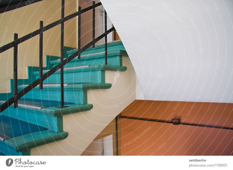 House (Residential Structure) Stairs Level Handrail Career Banister Go up Staircase (Hallway) Landing Office building