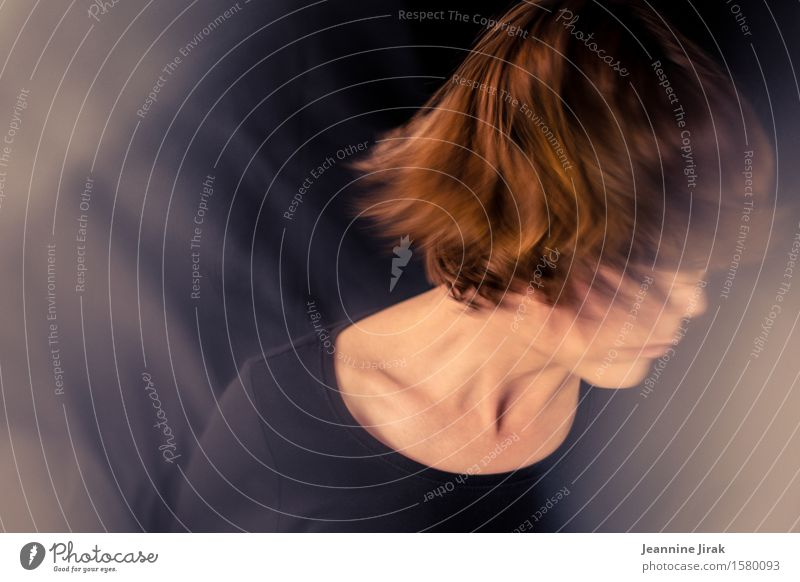Human being Life Sadness Feminine Head Moody Dream Fear Dance Stress Rotate Divide Disappointment Space cadet