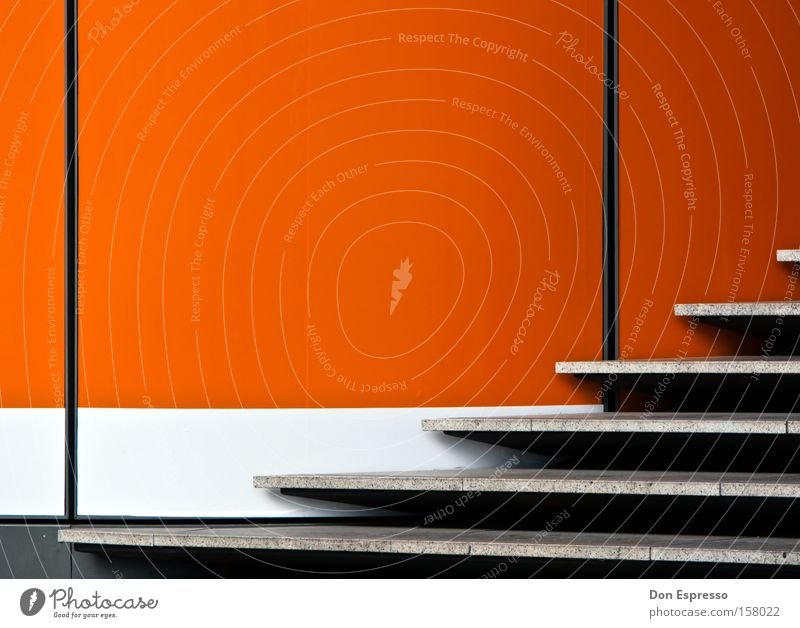 White Red Colour Wall (building) Gray Building Lamp Line Orange Stairs Illuminate Simple Illustration Graphic Minimal Simplistic