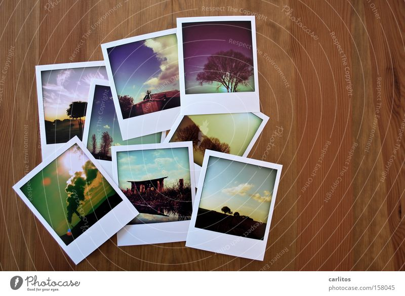Table Wood Photography Lie Corner Image Polaroid Past Square Analog Family & Relations Collection Stack Indicate Hand Memory