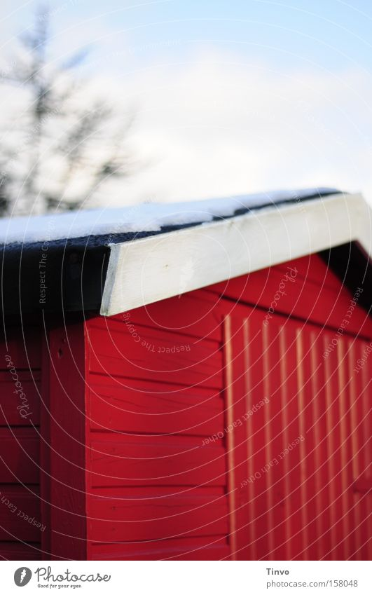 Red Winter Snow House (Residential Structure) Roof Barn Section of image Gaudy Gardenhouse Wooden hut Ski hut
