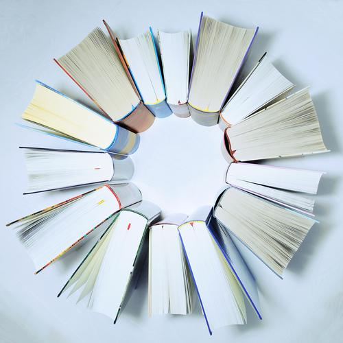reading circle Education Science & Research School Study Academic studies Bookseller Media Print media Library Page Paper Round Star (Symbol) Circle Together