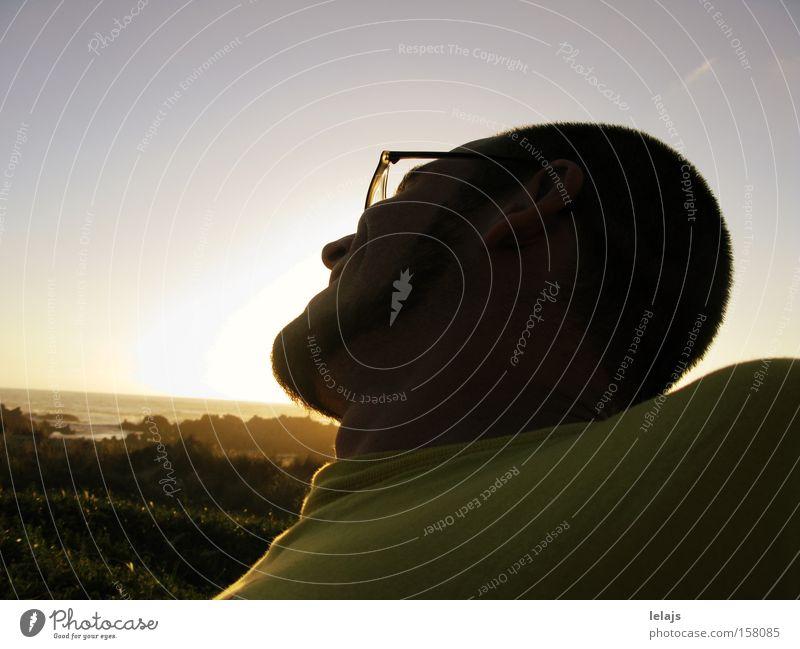 In the beginning Man Sun Ocean Summer Joy Vacation & Travel Happy Laughter Coast Happiness Eyeglasses Smiling Beard