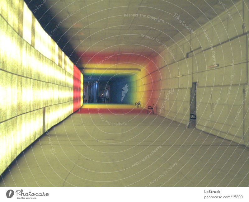 Colour Berlin Architecture Tunnel Deep