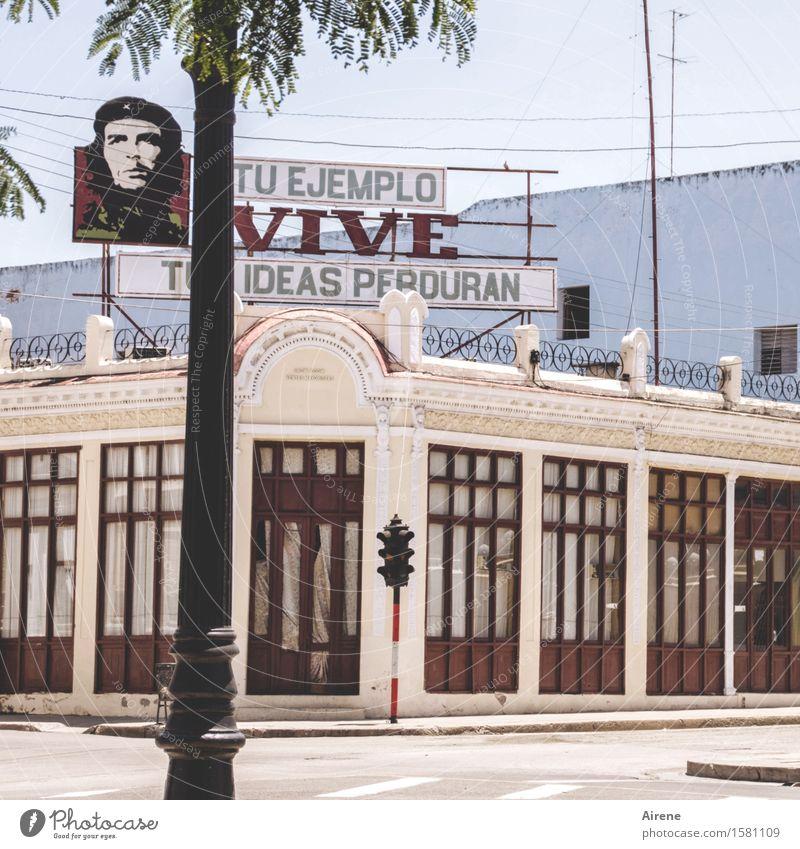 Che | Tuas ideas perduran? Cienfuegos Cuba Town Deserted House (Residential Structure) Building Tavern Hall Facade Tourist Attraction Landmark Monument