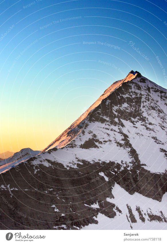 Beautiful Loneliness Snow Mountain Freedom Stone Hiking Rock Climbing Alps Peak Austrian Alps Wanderlust Mountaineering Slope Height