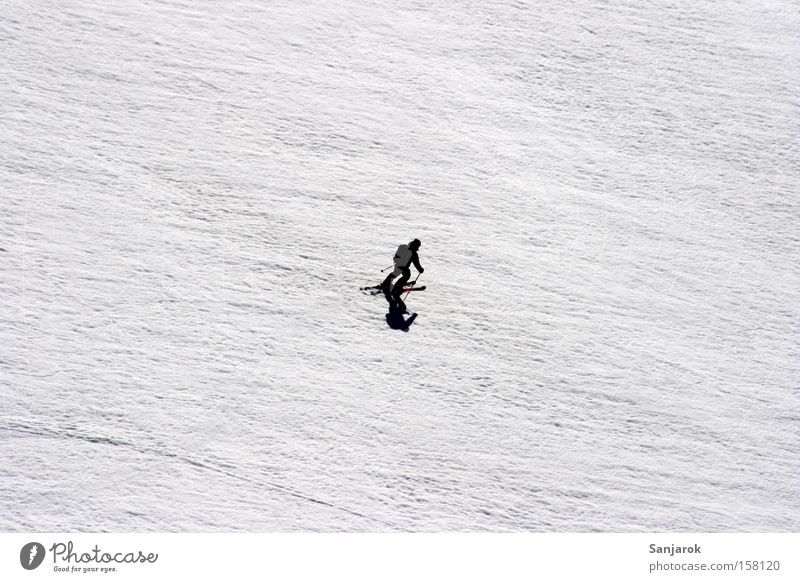 Human being White Winter Black Snow Mountain Freedom Ice Bright Small Speed Skiing Driving Frost Tourism Alps
