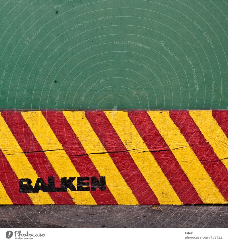 Green Red Yellow Wood Signs and labeling Signage Stripe Warning label Diagonal Word Striped Graphic Warning sign Exchange Joist Capital letter