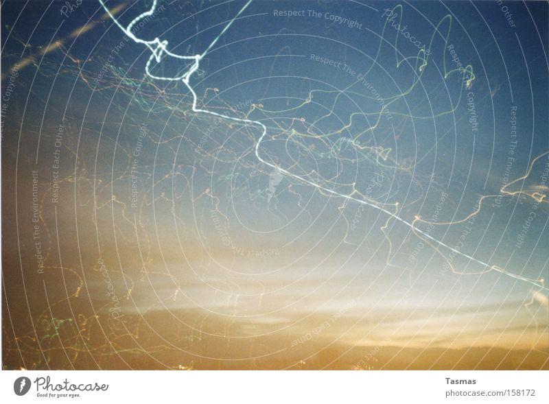 Sky Dark Line Power Force Electricity Lightning Wavy line
