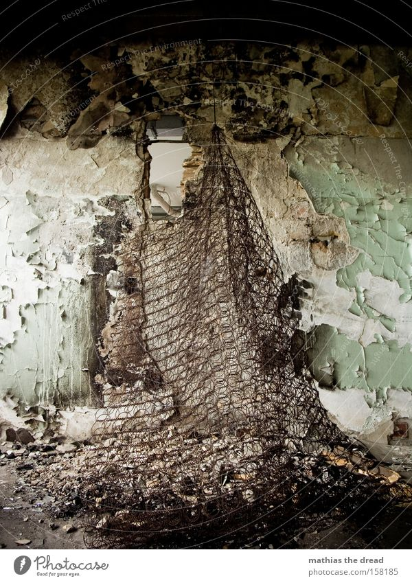 Old Colour Death Wall (building) Building Dye Room Dirty Transience Derelict Hollow Shabby Ruin Still Life Grating Bedroom