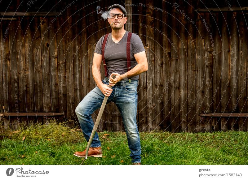 men at work Smoking Living or residing Garden House building Work and employment Profession Craftsperson Gardening Agriculture Forestry Tool Shovel Human being