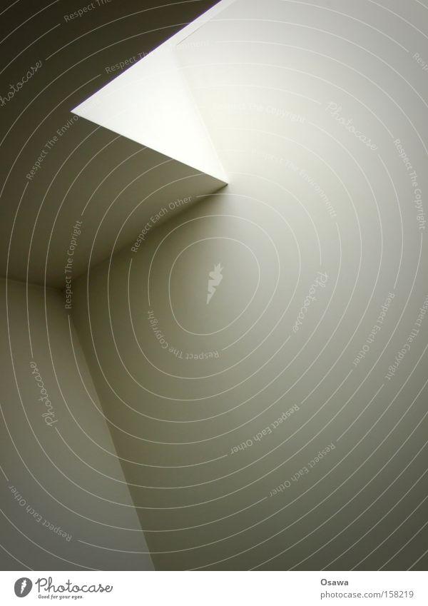 White Window Gray Room Architecture Corner Simple Monochrome Light Skylight