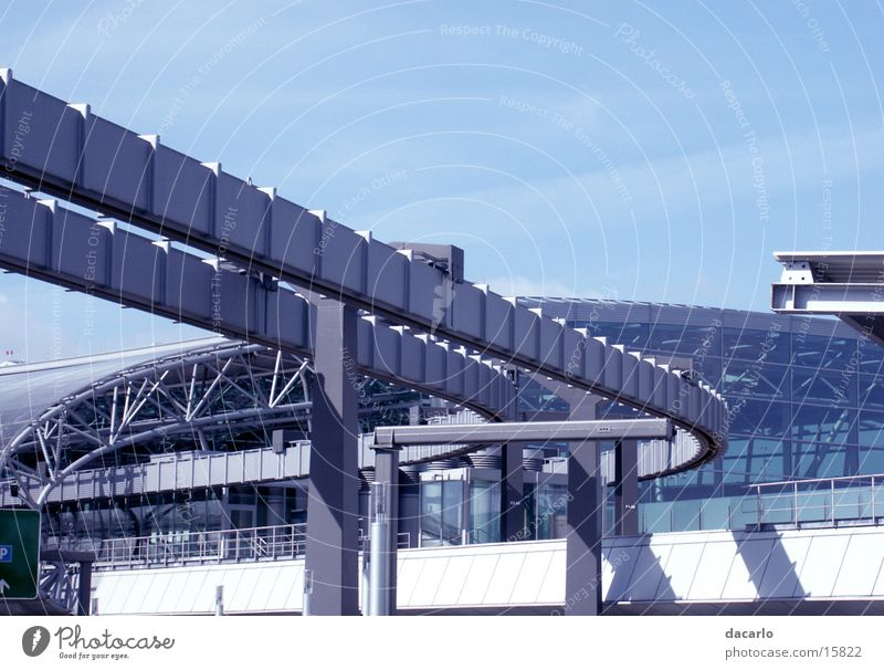 Technology Airport Duesseldorf Electrical equipment Suspension railway