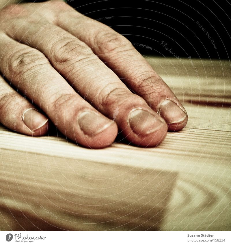 Man Hand Wood Furniture Skin Fingers Table Wrinkle Wrinkles Fingernail Skeleton Varnish Fingertip Dried up