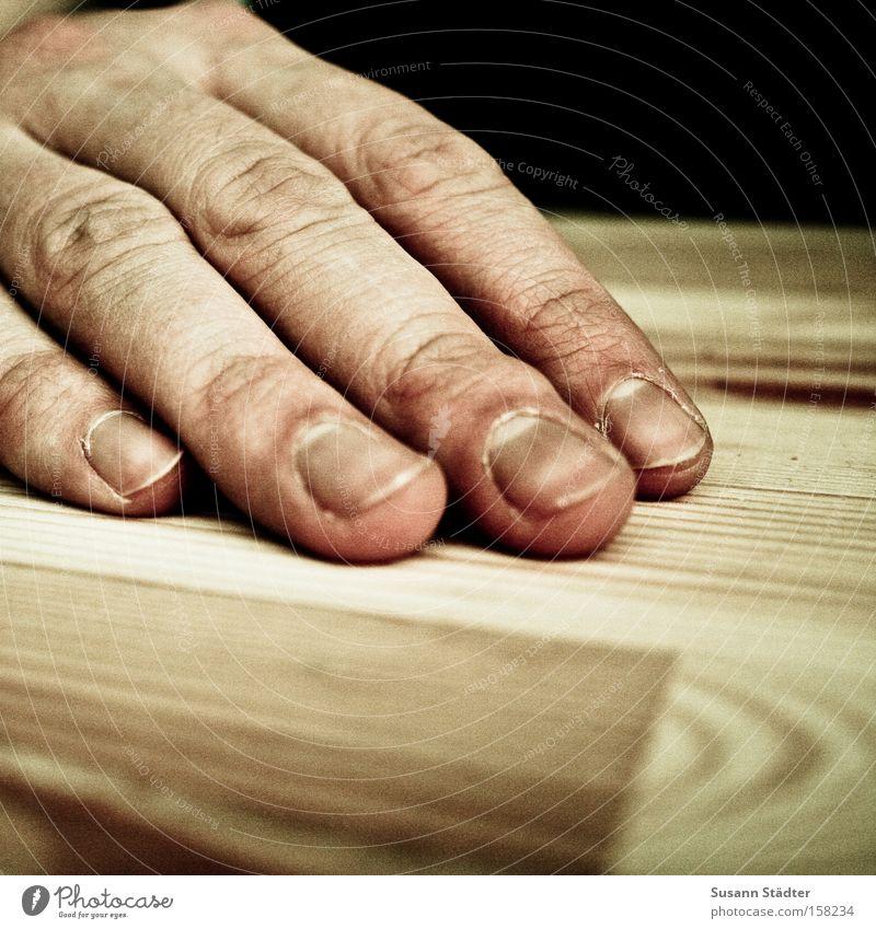 tame Hand Fingers Fingernail Skeleton Skin Dried up Wrinkles Fingertip Varnish Man Table Wood Tabletop