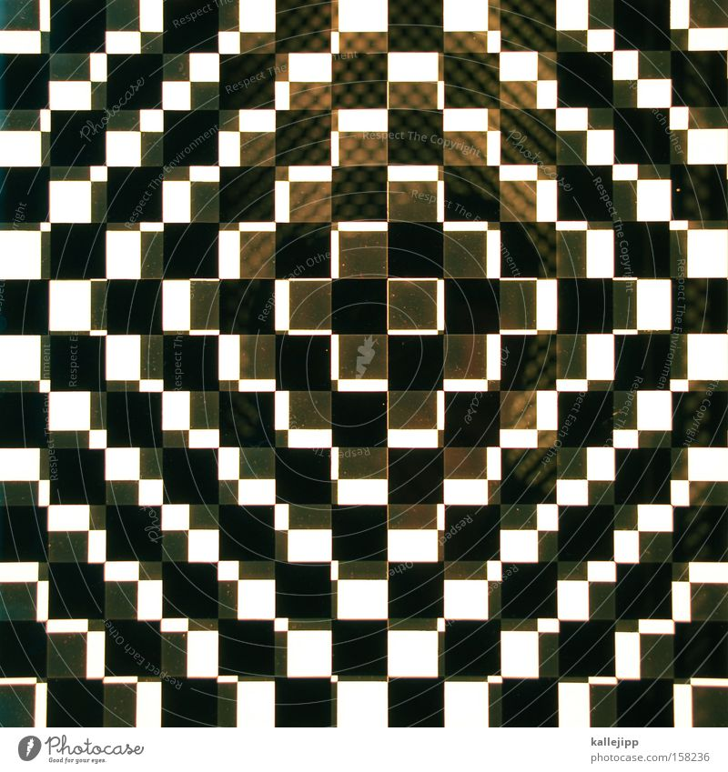 moiré olé Square Black Pattern Moiré effect White Postponement Art Black & white photo optical illusion op art Pop Art Irritation