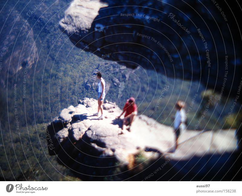 Mountain Rock Vantage point Edge Valley Cliff Vertigo Unafraid of heights