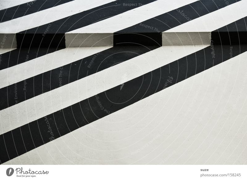 trip hazard Style Design House (Residential Structure) Art Wall (barrier) Wall (building) Facade Line Stripe Sharp-edged Simple Black White Joist Corner