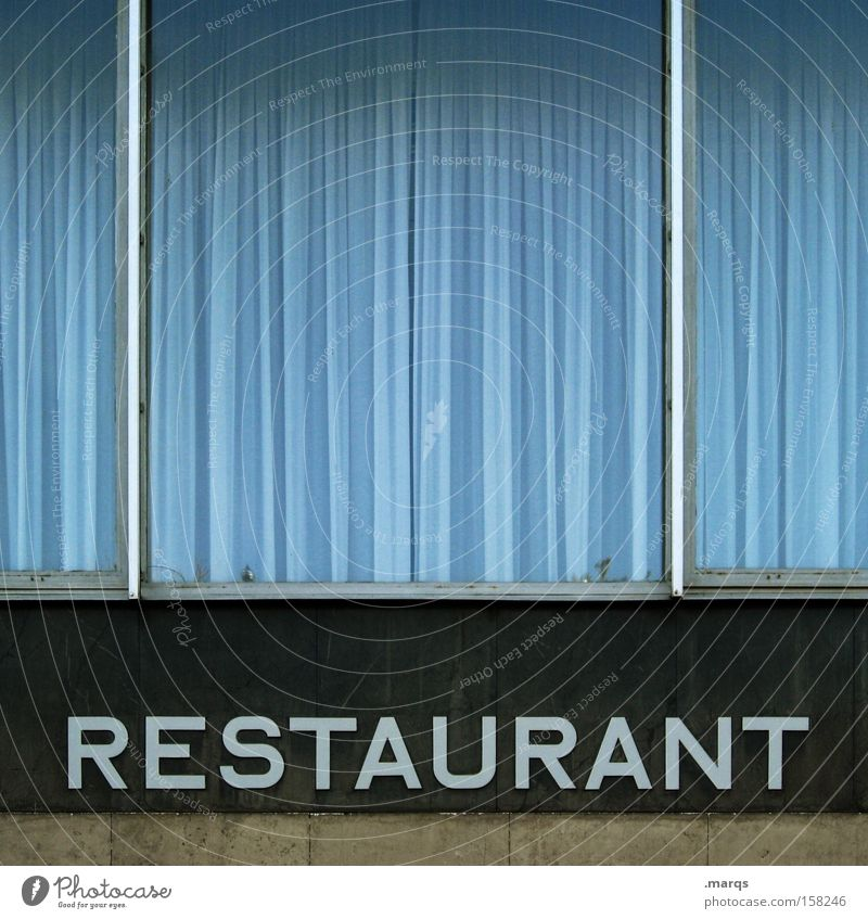 Restaurant Blue Black Nutrition Window Lifestyle Characters Bar Letters (alphabet) Gastronomy Services Dish Appetite Document To enjoy Typography