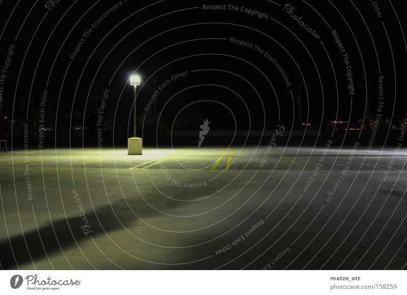 Light Loneliness Lamp Dark Bright Concrete Empty Derelict Airport Lantern Traffic infrastructure Parking lot