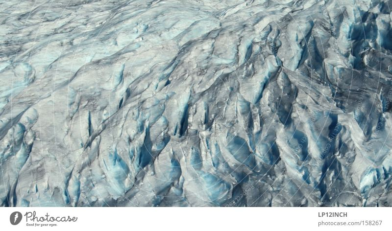 Insight into the tricky structure of the glacier Vacation & Travel Mountain Hiking Water Summer Ice Frost Glacier Observe Black Enthusiasm Respect Fear Effort