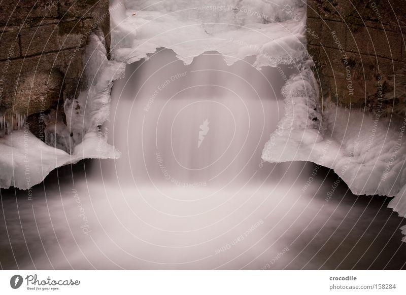 Water Winter Cold Wall (barrier) Ice Peace Munich Frozen Brook Waterfall Flow Artificial