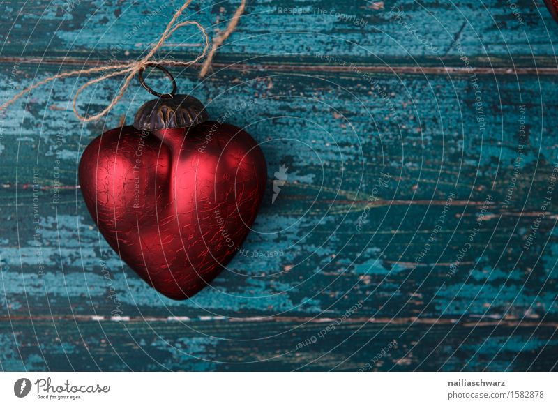 red heart Valentine's Day Wood Glass Metal Rust Heart Knot Love Retro Beautiful Blue Red Turquoise Romance Belief Colour Pure Symbols and metaphors Cage