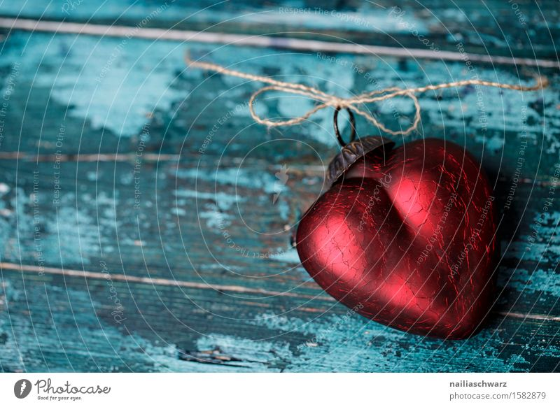 red heart Valentine's Day Mother's Day Wood Glass Heart Love Retro Beautiful Blue Red Sympathy Infatuation Romance Lust Sex Humanity Lovesickness Longing