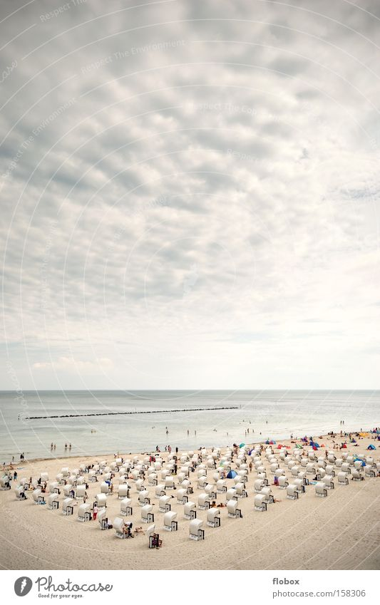 Sky Vacation & Travel Ocean Beach Sand Coast Large Island Tourism North Sea Baltic Sea Beach chair Rügen
