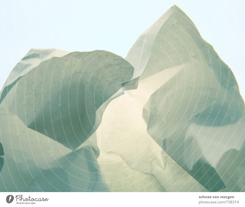 Iceberg, shortly before Greenland Cold Landscape Nature Snow Horizon Mountain Winter Paper White Turquoise Blue Cyan Block of ice