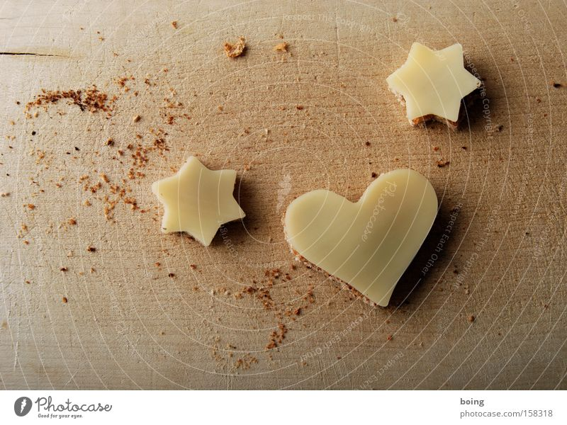 Love Heart Decoration Star (Symbol) Cooking & Baking Part Bread Wooden board Dinner Cheese Chopping board Cookie Valentine's Day Sofa Snack