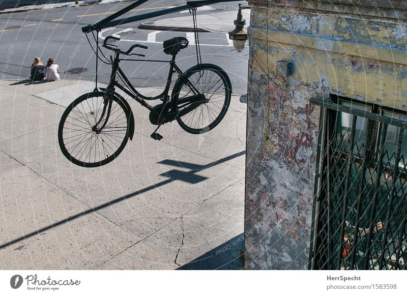 Human being Youth (Young adults) Man City Young woman House (Residential Structure) 18 - 30 years Window Adults Life Facade Decoration Bicycle Sit Wait