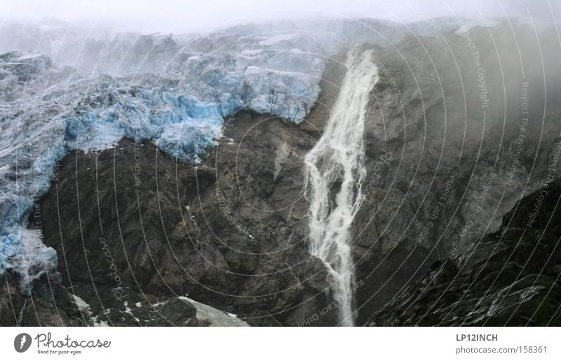 Water Blue Summer Mountain Stone Ice Hiking Fog Fresh Dangerous Frost Threat Fantastic Elements Norway Mountaineering