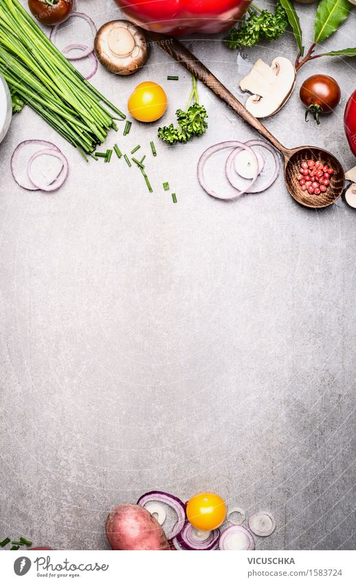 Nature Summer Eating Food photograph Style Background picture Lifestyle Food Design Nutrition Cooking & Baking Herbs and spices Vegetable Organic produce Vegetarian diet Diet