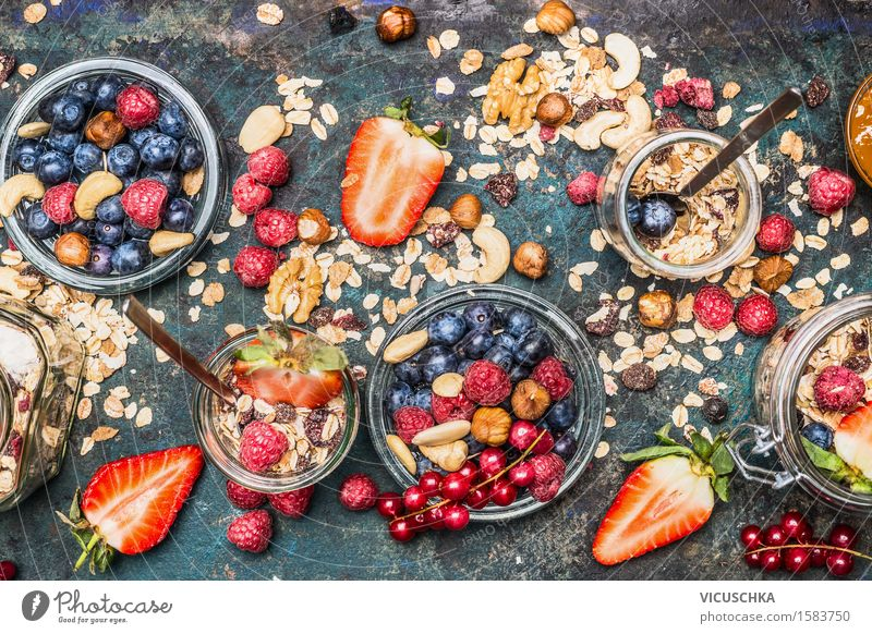 Summer Healthy Eating Life Style Lifestyle Food Design Fruit Living or residing Nutrition Glass Table Fitness Organic produce Grain Breakfast