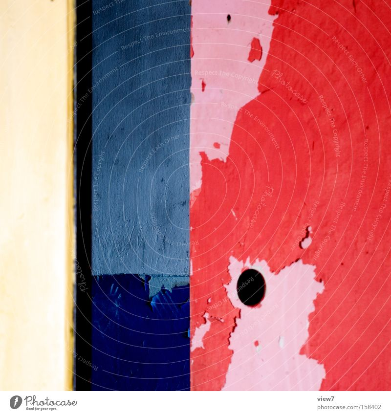 Bauhaus 09 Colour Varnish Paintwork Weimar Dessau Red Yellow Blue Time Transience Room Foreign Calm Still Life Detail Obscure Construction site Walter Gropius
