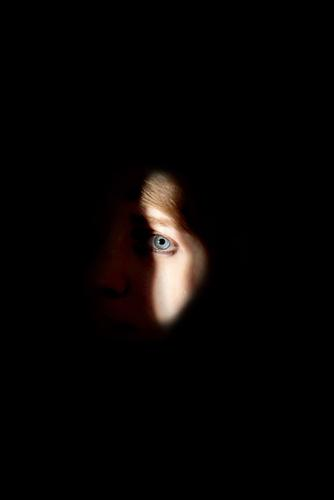 i spy with my little eye Feminine Young woman Youth (Young adults) Woman Adults Head Eyes 1 Human being 18 - 30 years Brunette Looking Dark Simple Creepy Bright