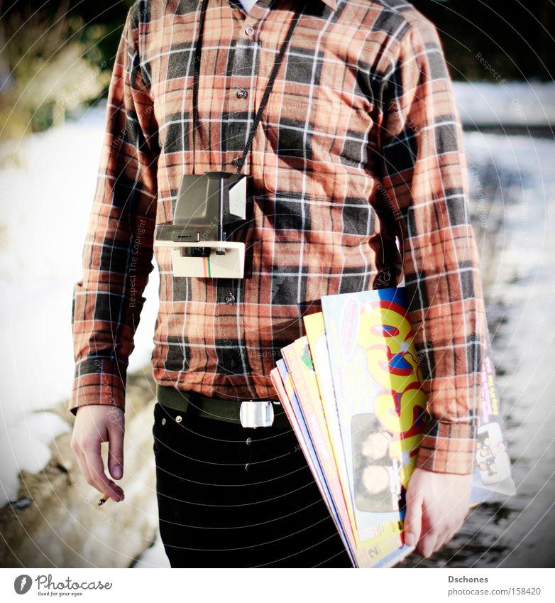 Man Polaroid Music Sound storage medium Concert Square Disc jockey Tourist Record Profession Sound engineering