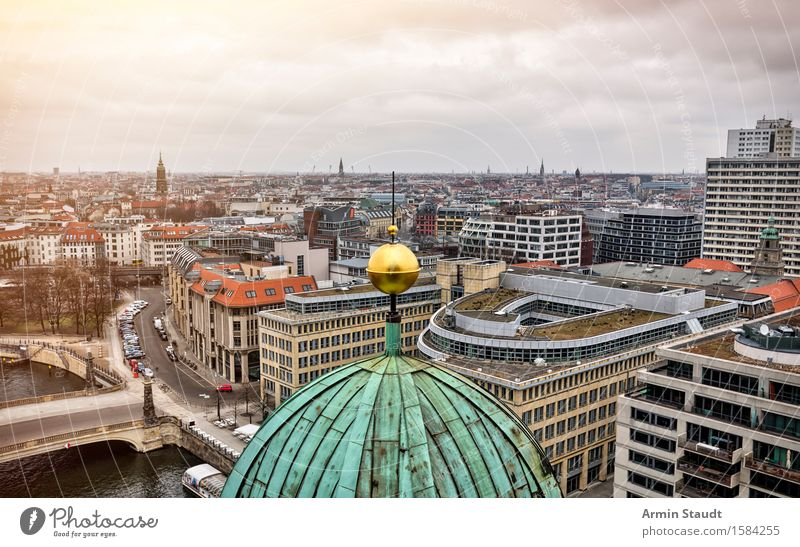 Berlin Cathedral Vacation & Travel Tourism Far-off places Sightseeing City trip Clouds Horizon Beautiful weather Town Capital city Skyline Church Dome Places