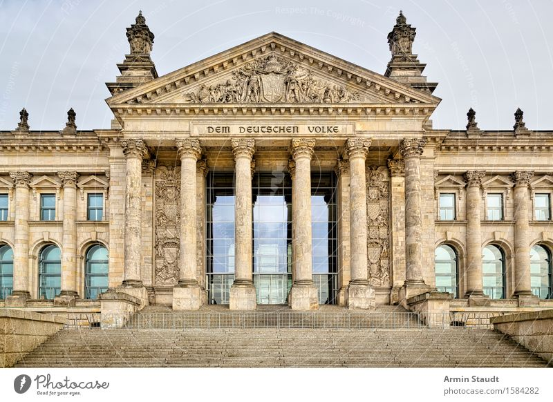 Reichstag Berlin Downtown Berlin Capital city Deserted House (Residential Structure) Palace Tourist Attraction Landmark Old Threat Famousness Moody Might Town