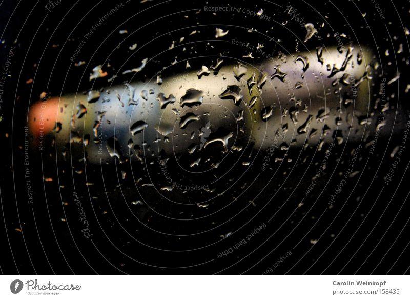 Colour Window Car Rain Weather Drops of water Motor vehicle Boredom Window pane Billboard