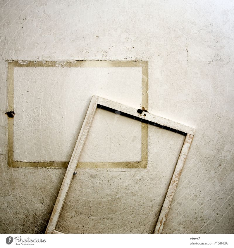 be out of the ordinary Frame Image Wall (building) Bordered Broken Decline Plaster Structures and shapes White Varnish Colour Dye Paintwork Detail Calm Gesture