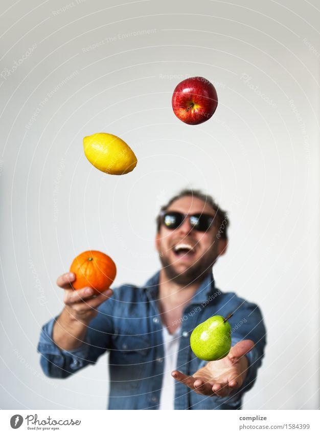 Fresh Fruits Food Apple Orange Lemon Pear Nutrition Breakfast Organic produce Vegetarian diet Diet Healthy Healthy Eating Athletic Fitness Life Well-being