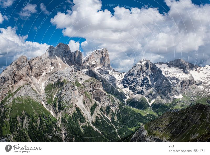 Dolomites Vacation & Travel Tourism Trip Adventure Far-off places Summer vacation Mountain Hiking Climbing Mountaineering Environment Nature Landscape Sky