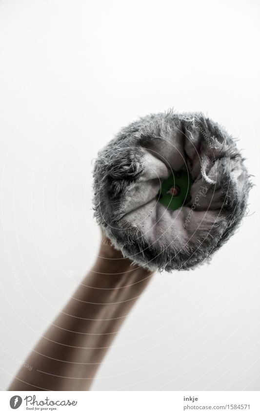 Round buffing wheel Arm Polish Cotton Feather duster Soft Things Bright background Tattered Polished Cleaning Wipe Colour photo Interior shot Studio shot